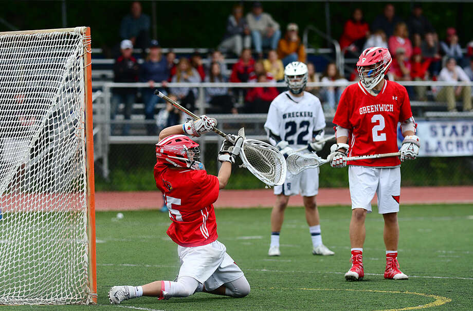 The Staples High School Boys Lacrosse team takes on Greenwich in their FCIAC boys lacrosse playoff game in Westport, Conn. Saturday, May 21, 2016.
