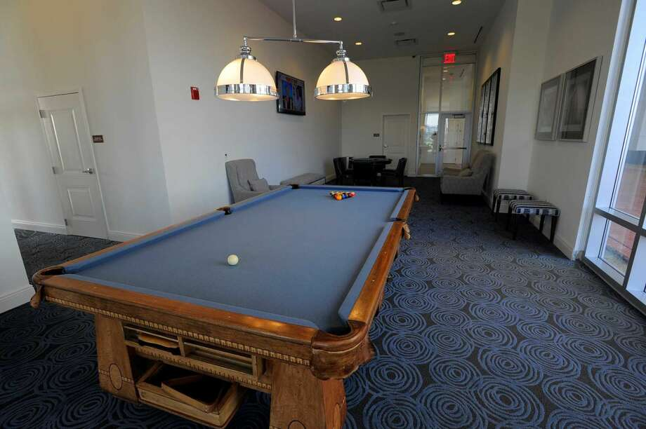 Billiards is one of many amenities offered to residents of the Beacon in Stamford's Harbor Point.