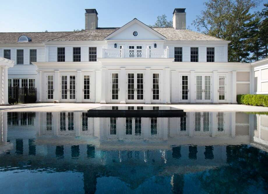 167 Zaccheus Mead Ln, Greenwich, CT 06831 -6 beds 11 baths 13,318 sqft. Features: Infinity pool and gazebo, home gym, sauna, staff quarters