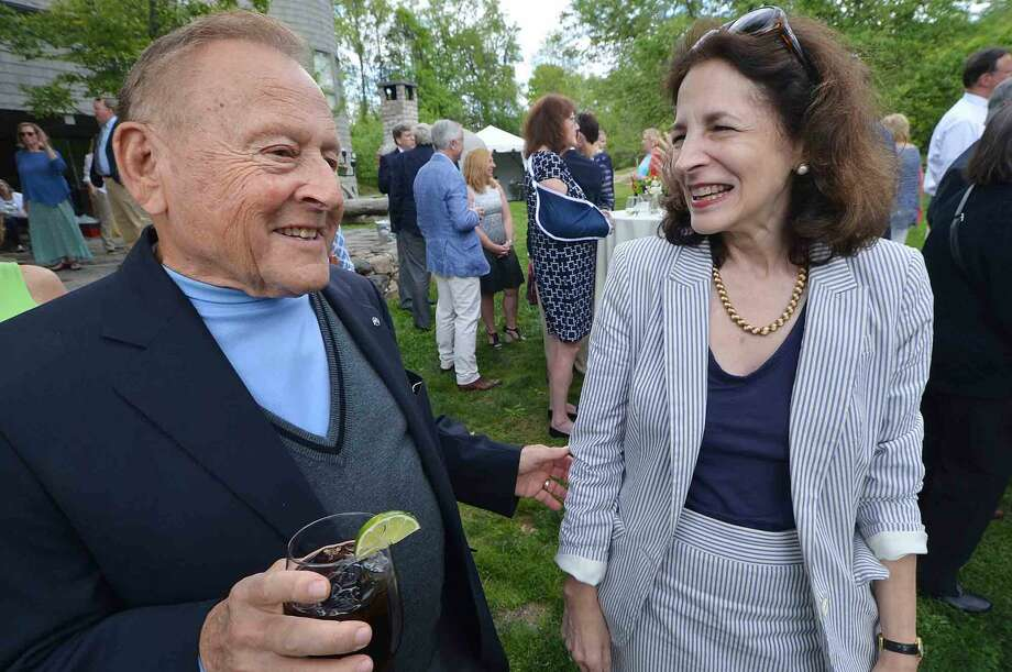 Ray Moscow and Gail Lavielle at the Wilton Family Y Community Celebration and dinner at Millstone Farm in Wilton Conn, Mayy 22 2016
