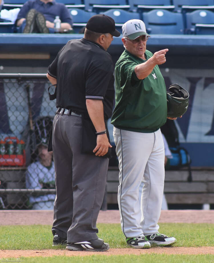 Norwalk played Darien in an FCIAC baseball semifinal on Monday.