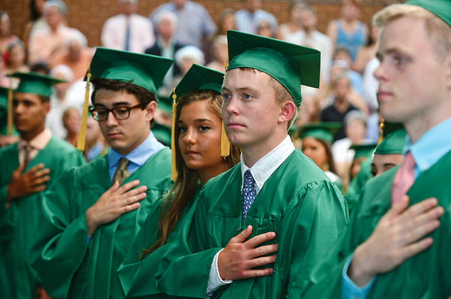 Hour photo / Erik Trautmann Commencement excercises for Trinity Catholic High Schools Class of 2015 Saturday.
