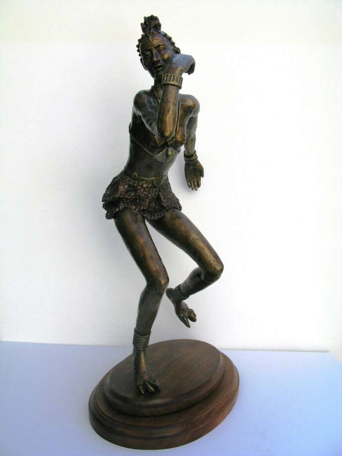 """Himba Dancer"" by Wilton resident Fay Stevenson-Smith is one of more than 25 sculptures on exhibit at Wilton Library's ""Society of Connecticut Sculptors Juried Art Exhibition"" opening Friday, June 5, from 6-7:30 p.m."