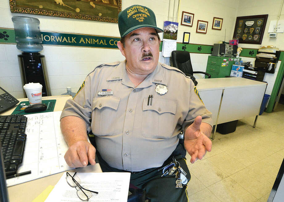 Rick Duddie, Municipal Animal Control Officer with the City of Norwalk, talks about the current ordinance for vicious dogs and the changes the city wants to make to to the laws, in Norwalk Conn. May 23, 2016