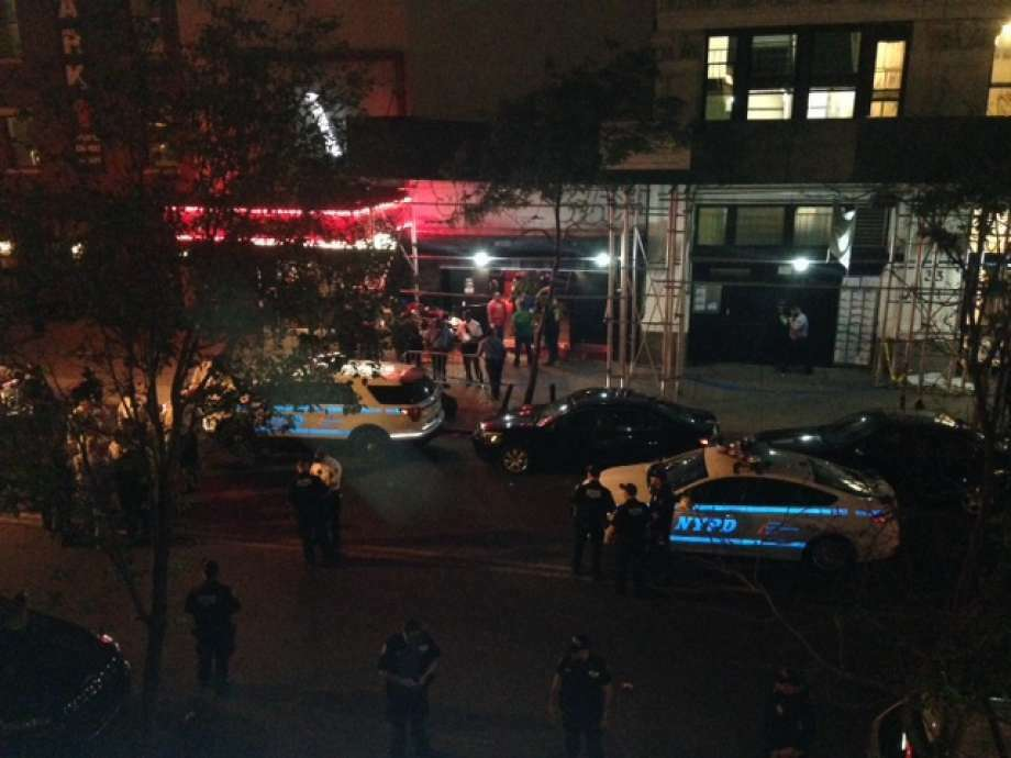 Authorities stand outside Irving Plaza, near Manhattan's Union Square in New York after a shooting Wednesday, May 25, 2016. Police say several were injured in a deadly shooting inside the concert venue, where hip-hop artist T.I. was scheduled to perform. (Photo: Dana Schimmel, AP)
