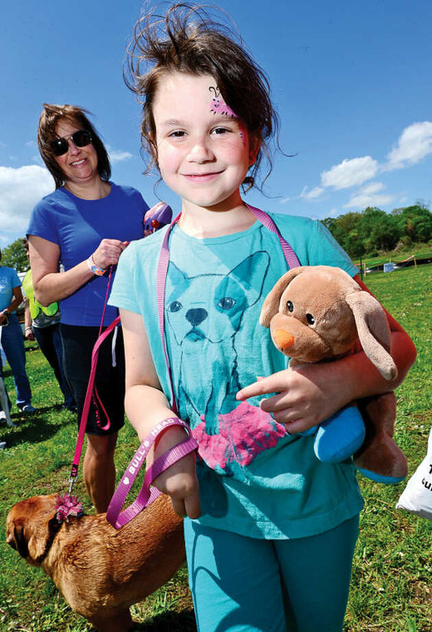 Hour photo / Erik Trautmann 7 year old Julia Gautrau attends The Hour Parade of Pets Pet Expo Saturday at Taylor Farm Park.