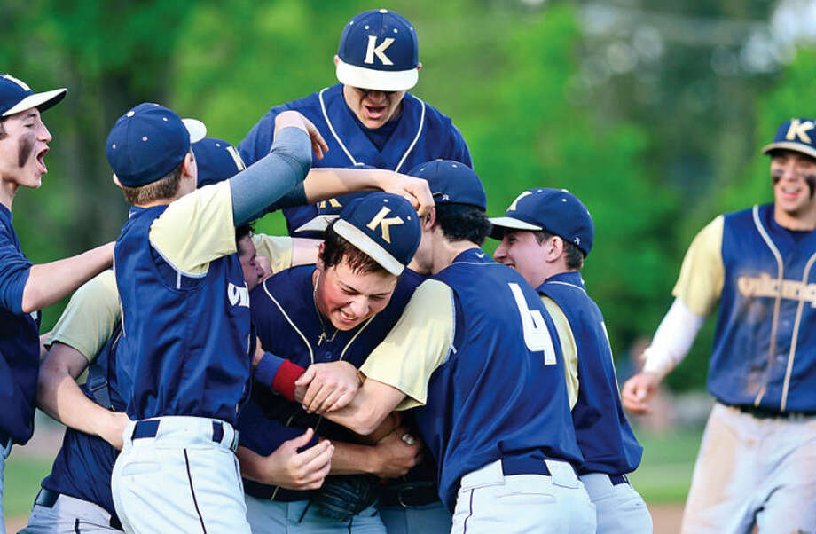 Hour photo / Erik Trautmann King celebrates their FAA championship game win against Rye Country Day Saturday.