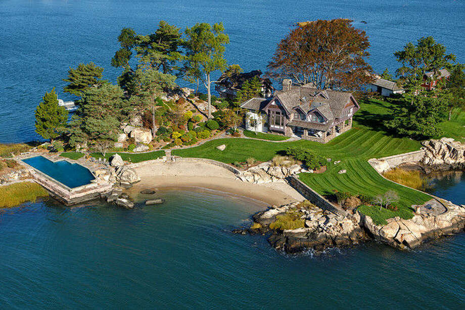 The Tavern Island property, which is listed at $10.995 million, is one of the Norwalk Islands.