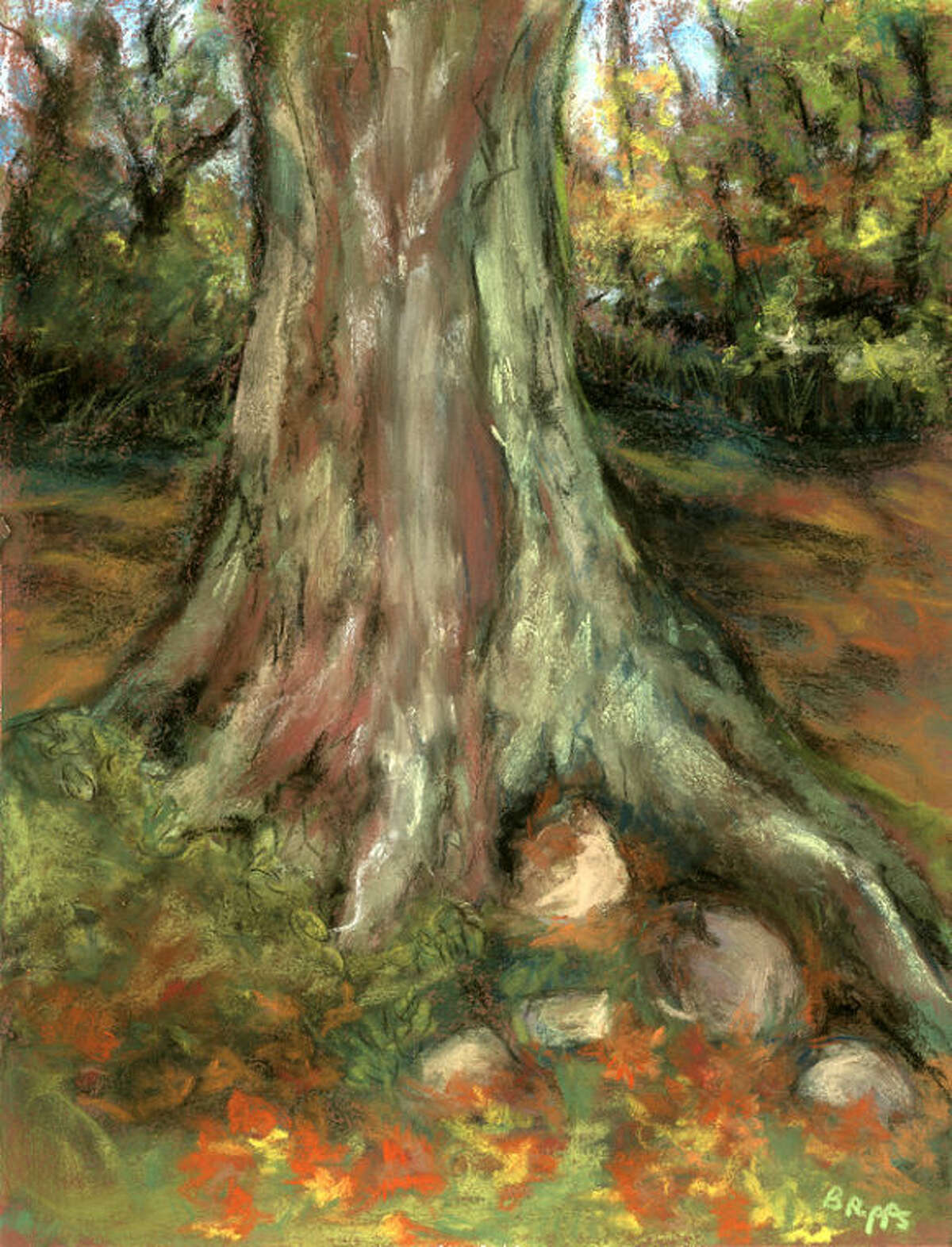 """Wilton Library's upcoming """"Three Friends: Drawing Collage Painting"""" art exhibition opens Friday, June 6 at 6 p.m. Deborah Flavin is from New Canaan, Linda Nemergut is from Bethel and Barbara Ripps is from Bridgewater."""