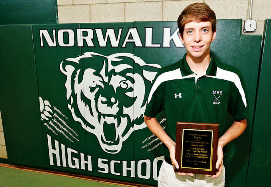 Hour photo / Erik Trautmann Norwalk High's James Henderson receieved theJohnConnolly award for his play in the Jerry Courville Memorial Tournament.
