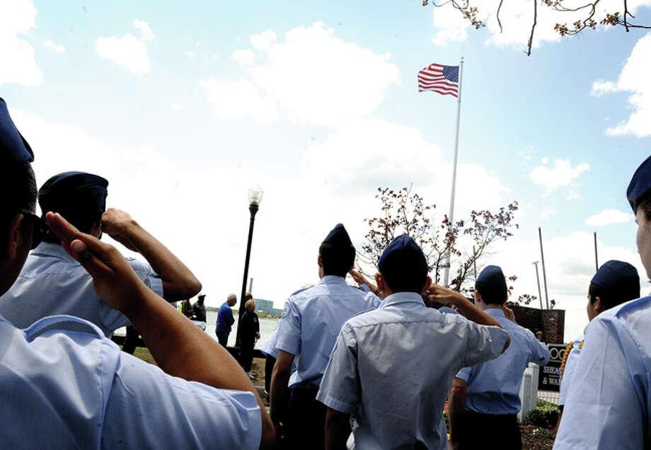 The Shea-Magrath Memorial Ceremony Sunday at Calf Pasture Beach. Hour photo/Matthew Vinci