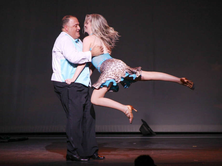 Stamford resident Dominick Bria of Salesforce.com and professional dance partner Kelly Butler of Arthur Murray Grande Ballroom, Greenwich tripped the light fantastic taking home The Judges' Choice Award Curtain Cal's Dancing With The Stars event on May 17.