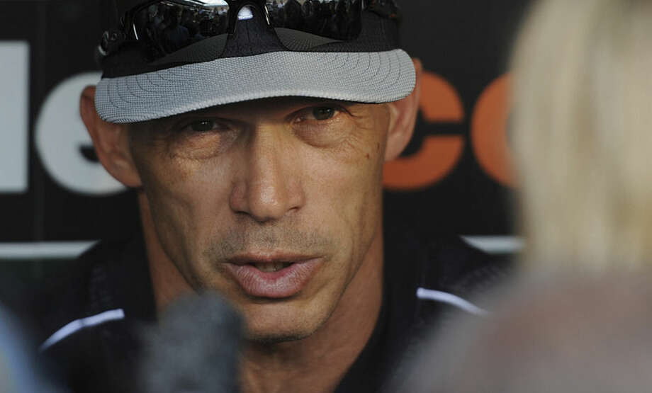 New York Yankees manager Joe Girardi talks with reporters before a baseball game against the Baltimore Orioles, Friday, June 12, 2015, in Baltimore. (AP Photo/Gail Burton)