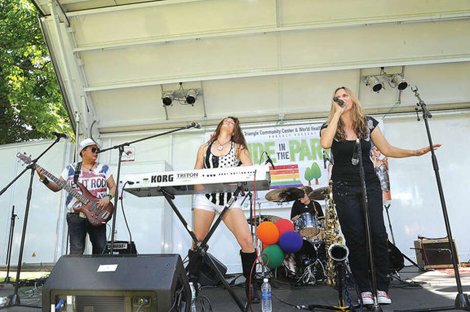 Run Jenny performs Saturday at the Fairfield County Pride in the Park 2015 held at Lockwood Mathews Mansion in Norwalk. Hour photo/Matthew Vinci
