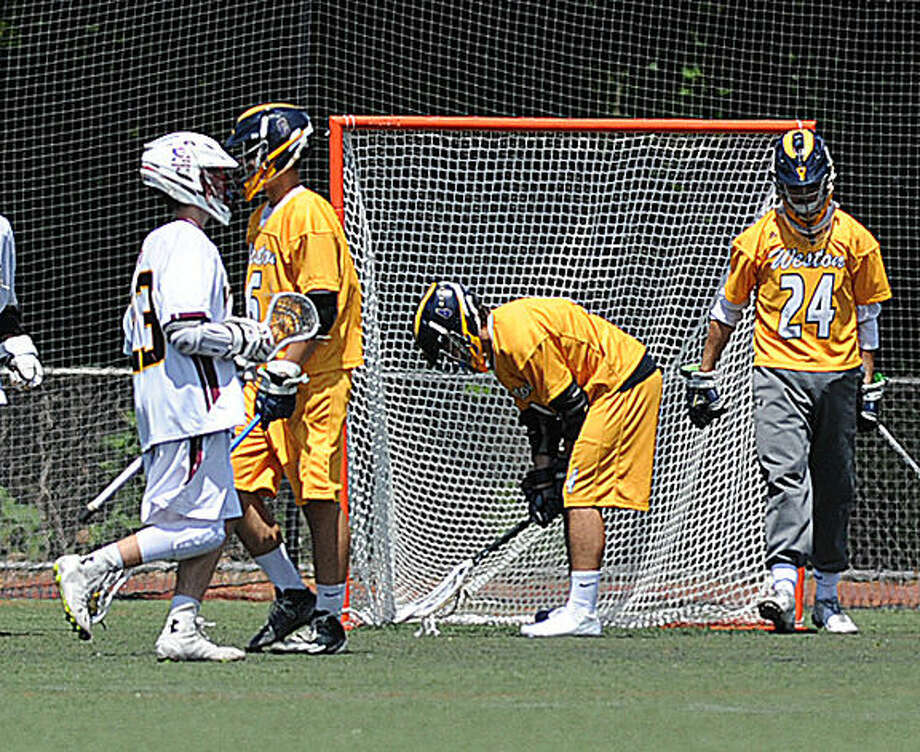 Weston boys lacrosse Saturday. Hour photo/Matthew Vinci
