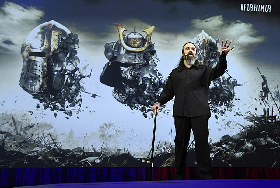 "Ubisoft Montreal Creative Director Jason Vandenberghe discusses the video game ""For Honor"" at Ubisoft's E3 2015 Conference at the Orpheum Theatre on Monday, June 15, 2015, in Los Angeles. (Photo by Chris Pizzello/Invision/AP)"