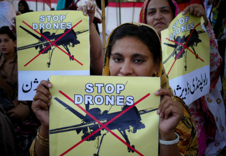 AP Photo/Mohammad Sajjad, fileIn this April 23, 2011, Pakistan women take part in a rally against the U.S. drone strikes in Pakistani tribal areas in Peshawar, Pakistan. The secret targeted killing program that once was the mainstay of President Barack Obama's counterterrorism effort appears to be winding down.