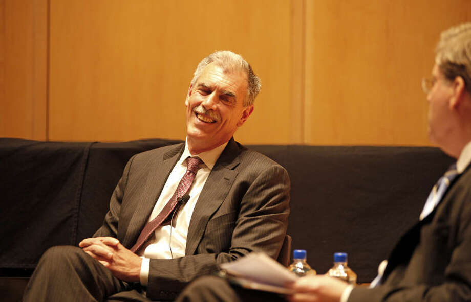 Solicitor General Donald Verrilli speaks at The Wilton Library Thursday evening.