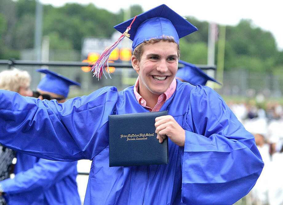 Hour Photo/Alex von Kleydorff Brien McMahon High School Class of 2015 graduation
