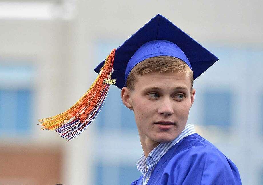Hour Photo/Alex von Kleydorff Brien McMahon High School Class of 2015 graduation