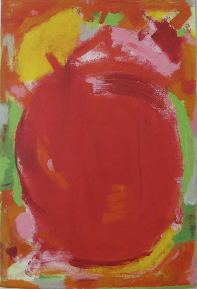 "Contributed photo""Blob Series-Apple Red,"" an acrylic painting by Norwalk Artist Lesley Koenig."