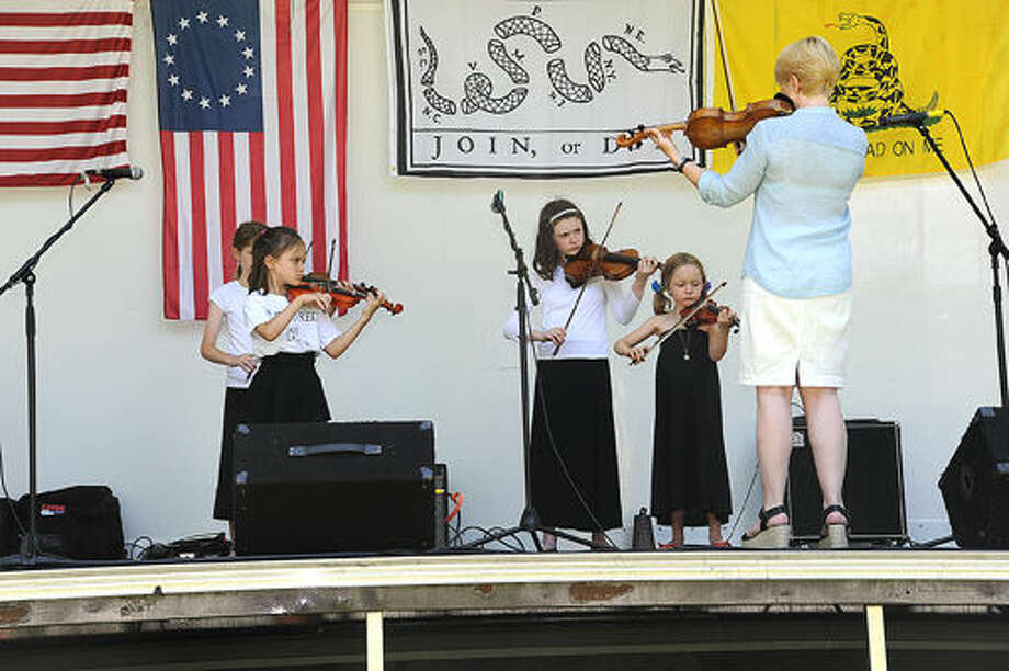 TESS Music School performs Sunday at the Ice Cream Social held at the park at Lockwood Mathews Mansion. Hour photo/Matthew Vinci