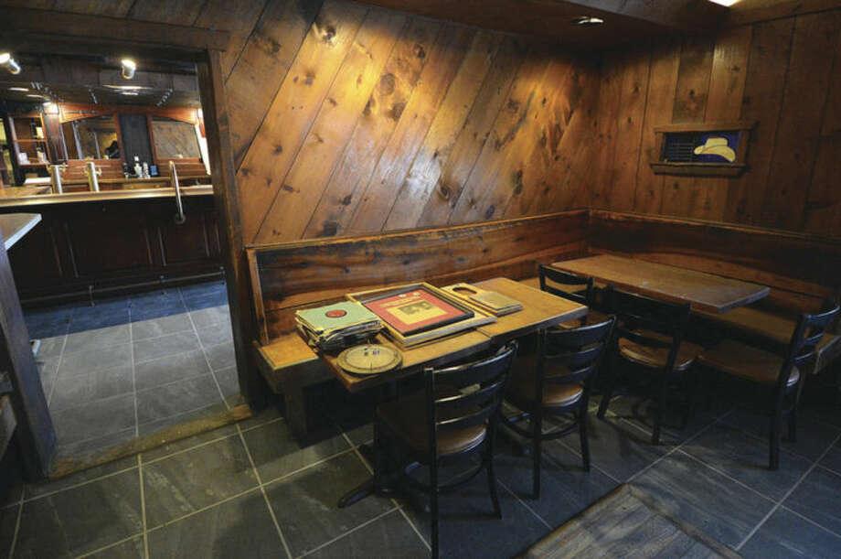 Hour Photo/Alex von Kleydorff The Corner table at The Georgetown Saloon