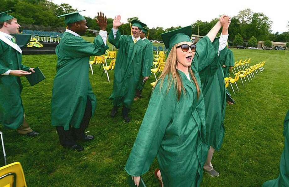 Hour photo / Erik Trautmann Trinity Catholic High School graduates class of 2014.