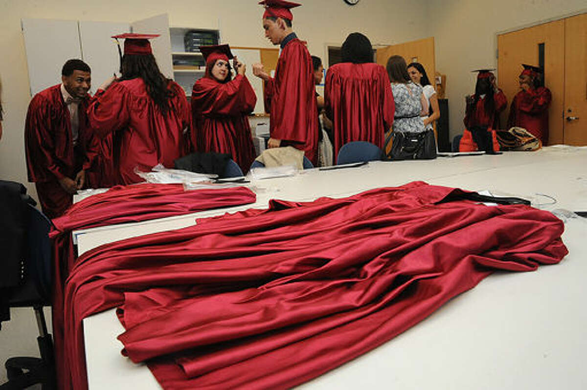 The Briggs High School graduation held at the Brien McMahon Center for Global Studies. Hour photo/Matthew Vinci