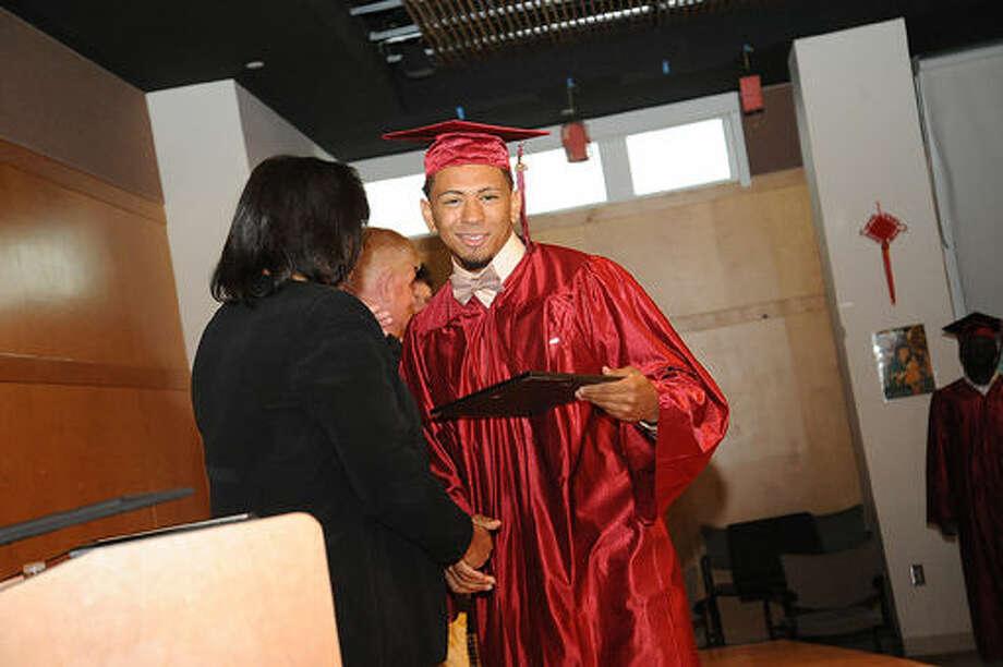 The Briggs High School graduation held at the Brien McMahon Center for Global Studies. Hour photo/Matthew Vinci