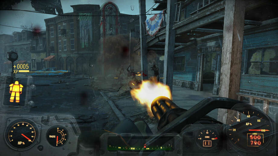 """This photo provided by Bethesda Softworks shows a screenshot of a scene for the video game, """"Fallout 4."""" (Bethesda Softworks via AP)"""