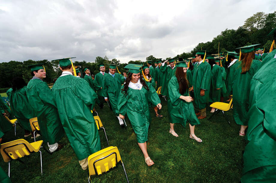 Hour photo / Erik Trautmann Trinity Catholic High School graduates the class of 2014.