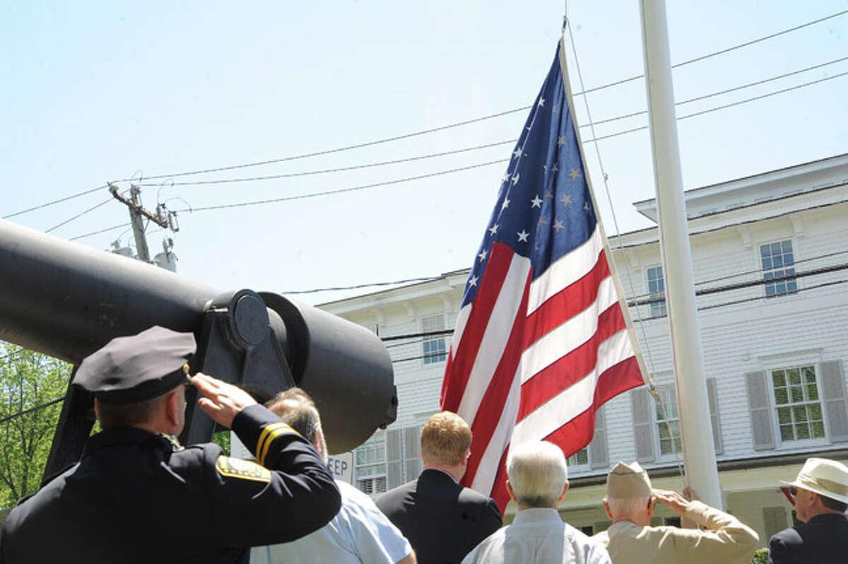 The Rowayton Memorial Day Parade on Sunday. Hour photo/Matthew Vinci