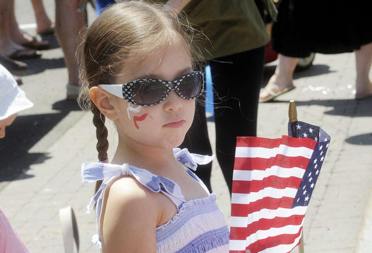 Alice Stern 6 Sunday at the Rowayton Memorial Day Parade. Hour photo/Matthew Vinci