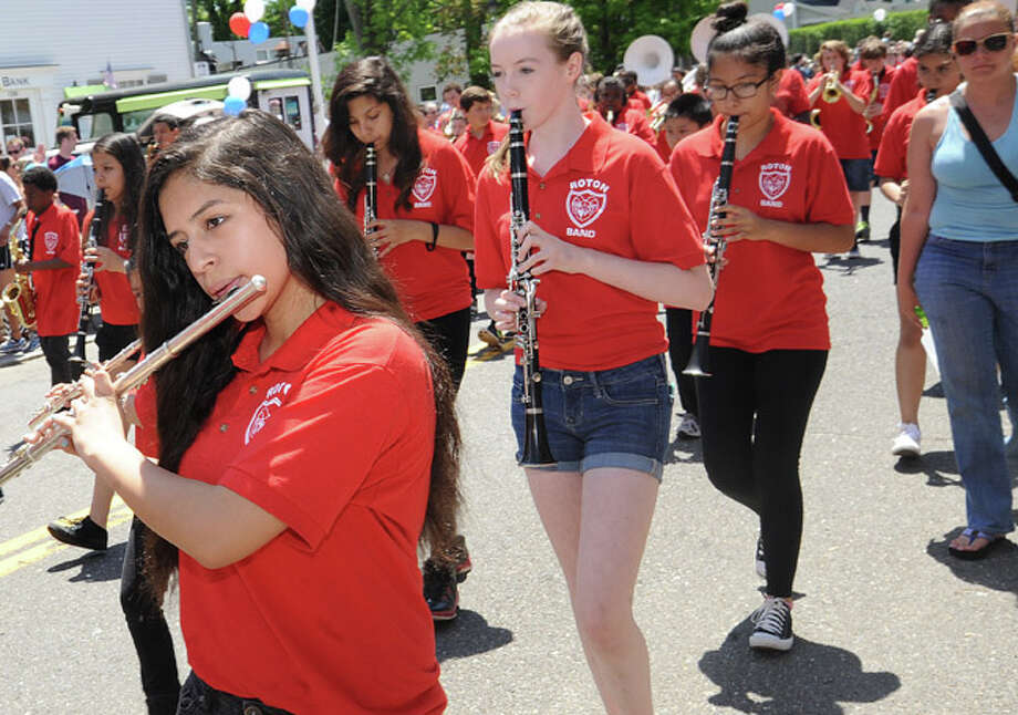 Rotn School at the Rowayton Memorial Day Parade on Sunday. Hour photo/Matthew Vinci