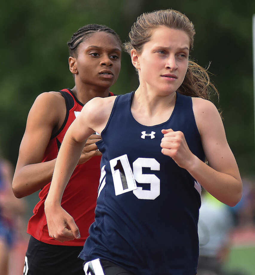 Staples junior Hannah DeBalsi continued her great high school career with another dominate year, including FCIAC championships, state championships and a New England Championship. (Hour photo/John Nash)