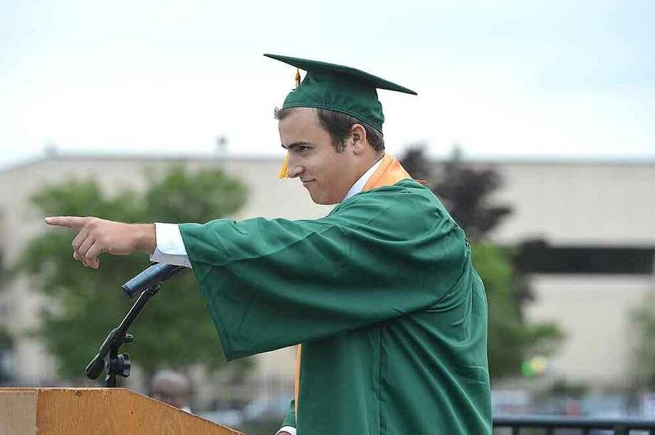 Hour Photo/Alex von Kleydorff Norwalk High School Class of 2015 Graduation