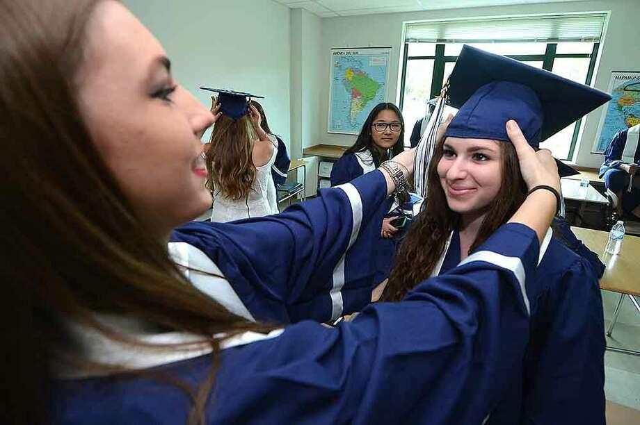 Hour Photo/Alex von Kleydorff Staples High School Class of 2015 Graduation
