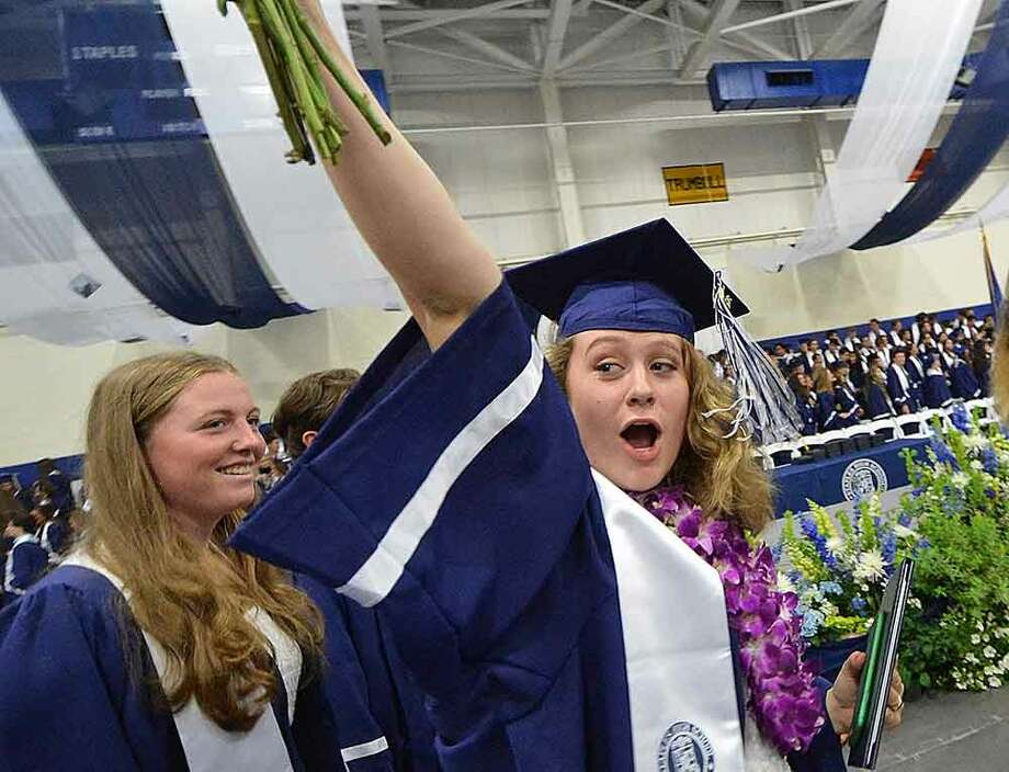 Hour Photo/Alex von Kleydorff Staples High School Class of 2015 Graduation