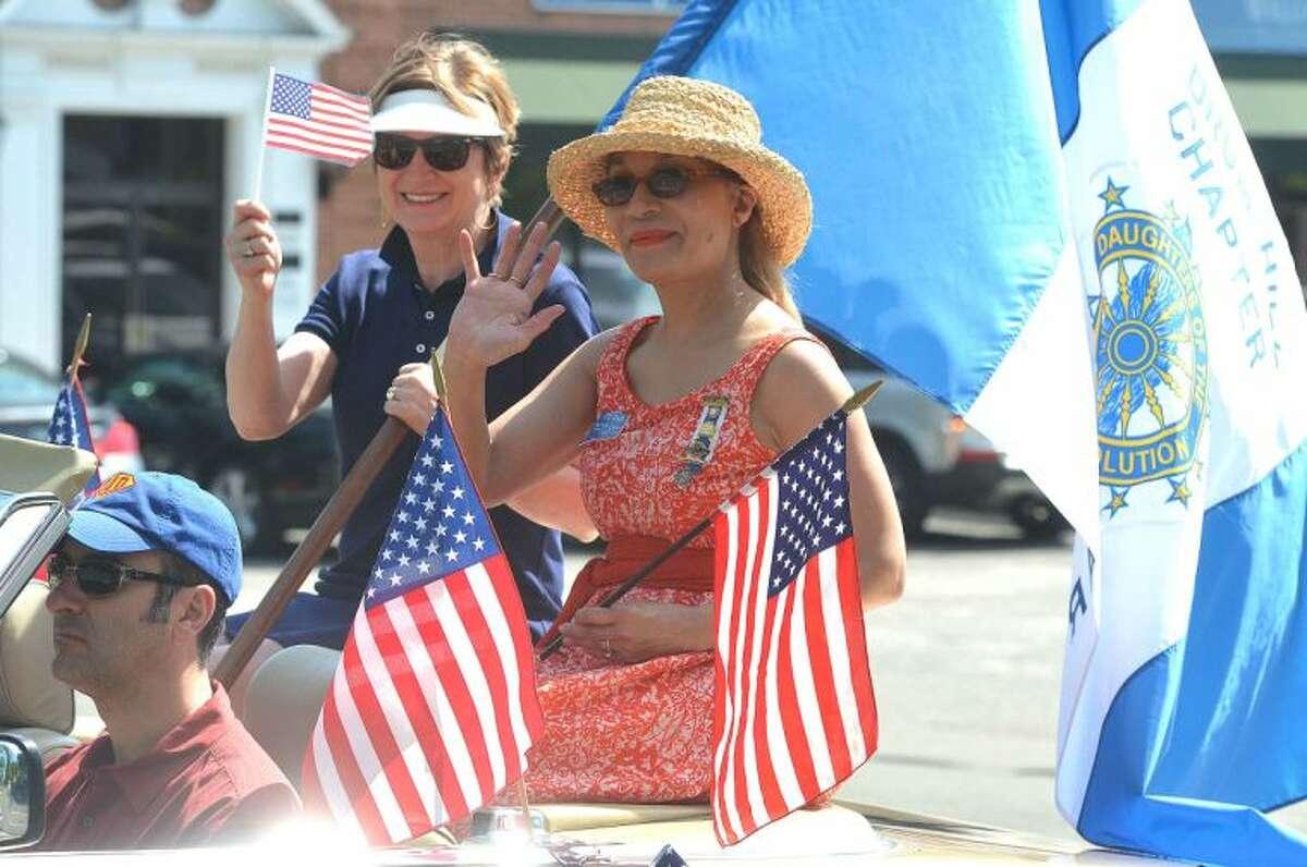 Hour Photo/Alex von Kleydorff Wilton's Memorial Day Parade makes its way through the town center on Monday