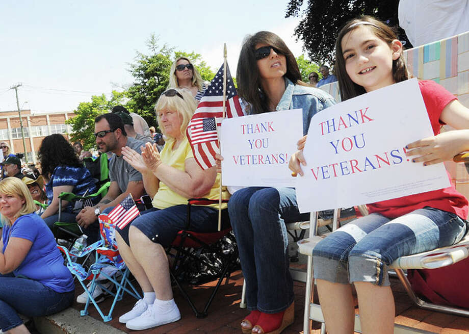 Annalisa Breisler and her daughter Ava 9, at the Norwalk Memorial Day Parade. Hour photo/Matthew Vinci