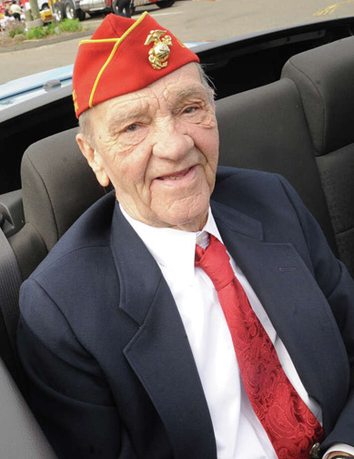 Lee Seymour, Grand Marshall at the Memorial Day Parade in Norwalk on Monday. Hour photo/Matthew Vinci