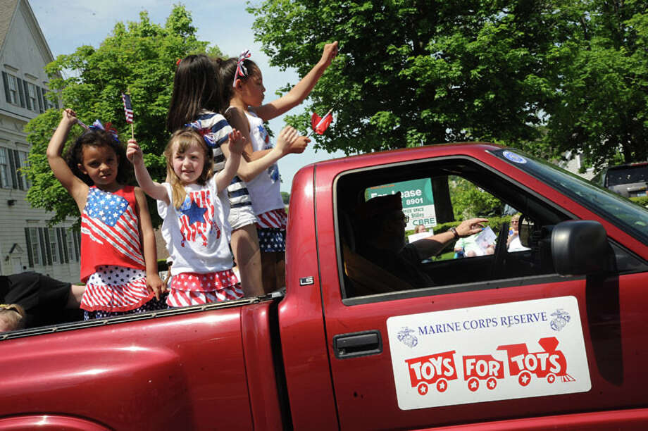 The Marine Corps Toys for Tots at the Norwalk Memorial Day Parade. Hour photo/Matthew Vinci