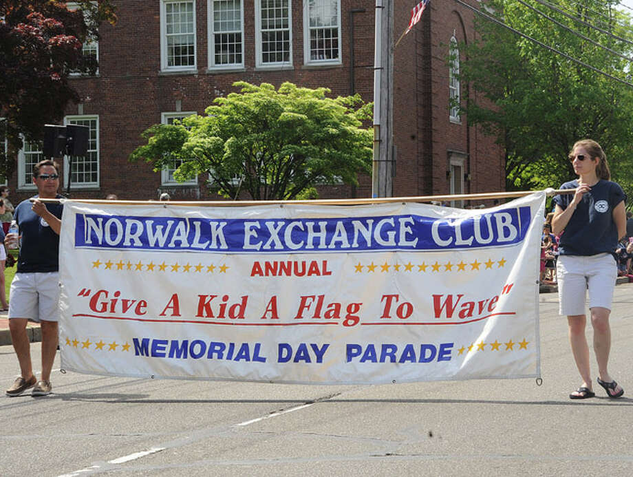 The Norwalk Exchange Club at the Memorial Day Parade Monday in Norwalk. Hour photo Matthew Vinci
