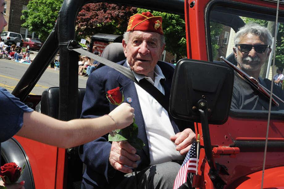 Joe Lametta, fomer Parade Grand Marshall at the Norwalk Memorial Day Parade. Hour photo/Matthew Vinci
