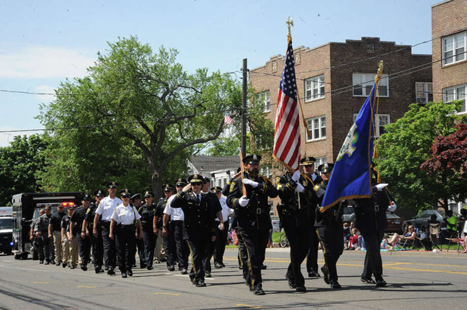The Norwalk Police Department at the Norwalk Memorial Day Parade. Hour photo/Matthew Vinci