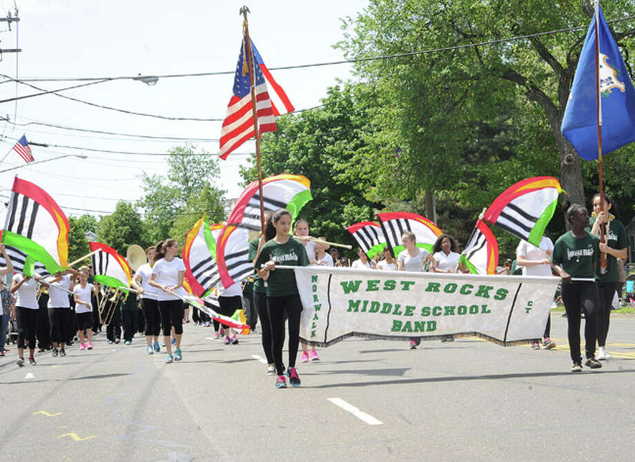 West Rocks School at the Norwalk Memorial Day Parade. Hour photo/Matthew Vinci