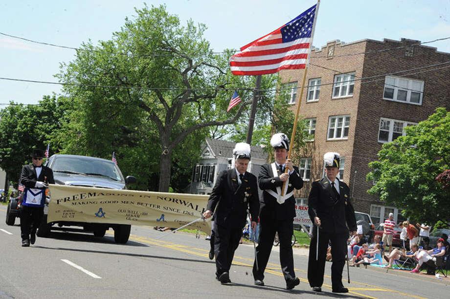 Freemasons march in the Norwalk Memorial Day Parade. Hour photo/Matthew Vinci