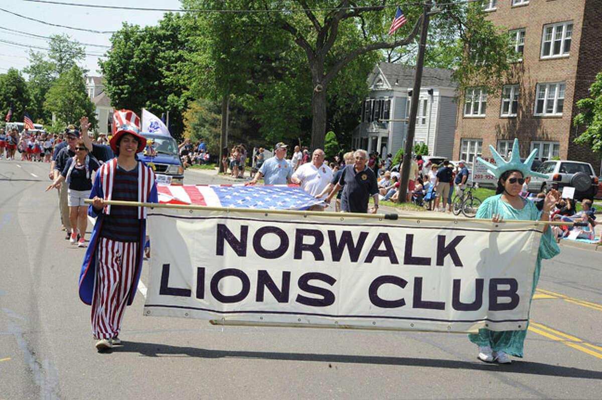 Norwalk Lions Club at the Norwalk Memorial Day Parade. Hour photo/Matthew Vinci