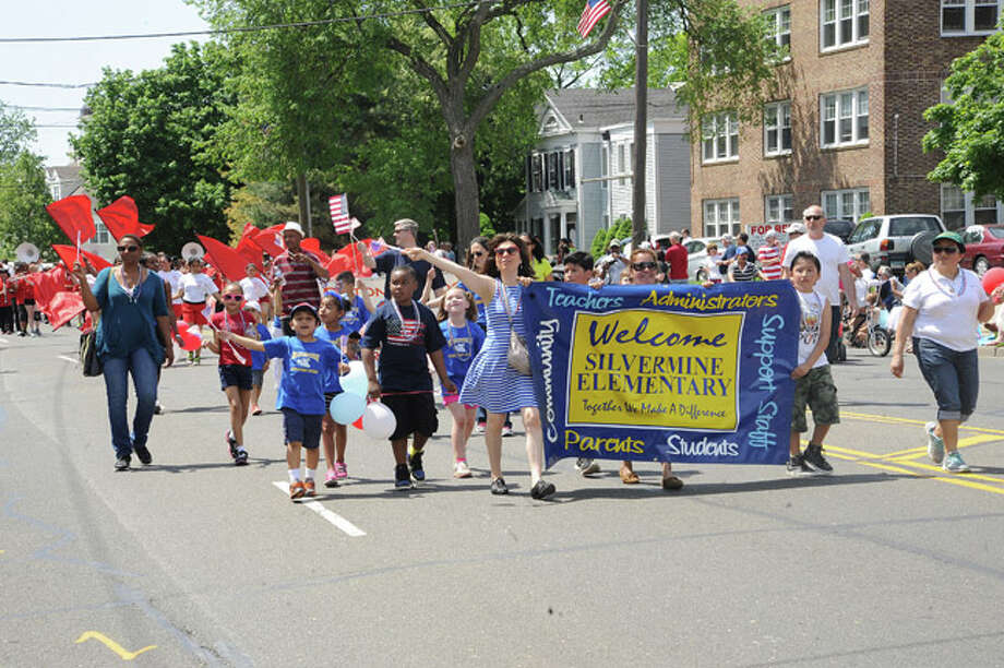 Silvermine Elementary School at the Norwalk Memorial Day Parade. Hour photo/Matthew Vinci
